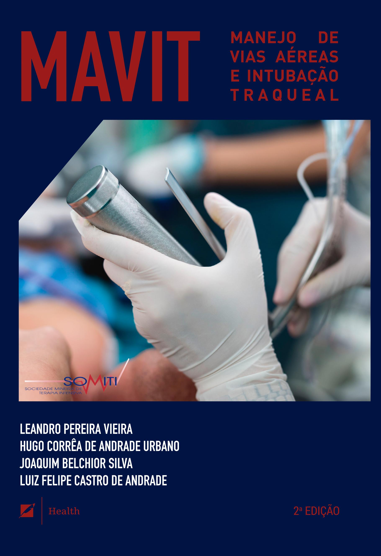 capa do livro manejo de vias aéreas contendo profissional de luvas fazendo a intubação